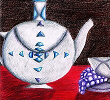 Imaginary still life...the silver pot  by AlmaAzul