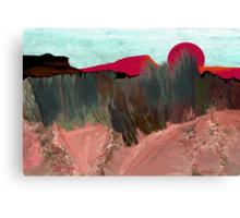 """Desert Sunset""  - Arizona desert hills. Canvas Print"