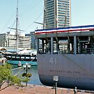 The Navy Frigate WhidBey Island docked at Baltimore Inner Harbor by Jack McCabe