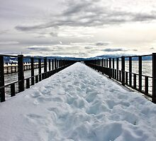 Ice Deck - Lake Tahoe, California by Aurora Vaz