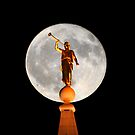 Angel Moroni in the Moon 20x30 by Ken Fortie