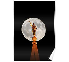 Angel Moroni in the Moon 20x30 Poster
