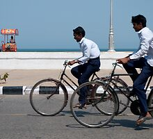 Boy racers, Pondicherry by Syd Winer