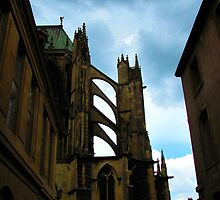 Storm clouds and flying buttresses by Jamie Alexander