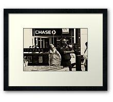The chase ended Framed Print