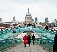 St Paul's Cathedral from Millennium Bridge. by DonDavisUK