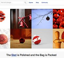 Red Baubles - 24 December 2010 by The RedBubble Homepage