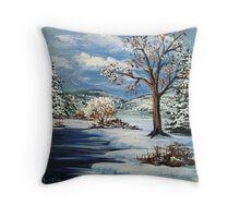 The Lake & Snow Throw Pillow