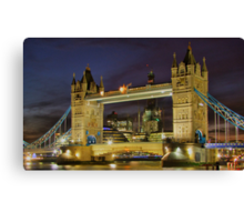 Tower Bridge And The Shard Building - HDR Canvas Print