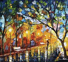 LONELINESS - Original Art Oil Painting By Leonid Afremov by Leonid  Afremov