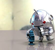 Jo Bot VS Little Blue Bot by mdkgraphics