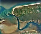 """Escaping River"" - River finally reaches the sea. by Patrice Baldwin"