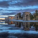 The Debod Temple Like A Halloween Pumpkin by servalpe