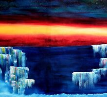 Frozen waterfalls 3 by david hatton