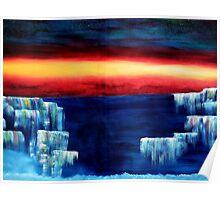 Frozen waterfalls 3 Poster