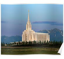 Oquirrh Mountain Temple Morning Light 20x24 Poster