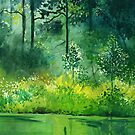 Light n Greens by Anil Nene