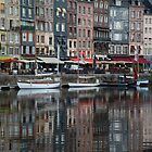 Reflections of Honfleur by Jocelyn Pride