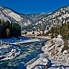 The Clark Fork at Alberton, Montana by Bryan D. Spellman