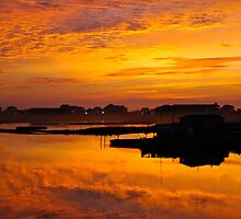 Topsail Island Dawning by Athenawp