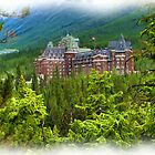 Banff Springs Hotel - Digital Oil-painting by JamesA1