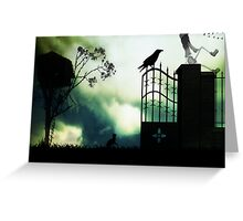 Watching the birds fly south for winter Greeting Card