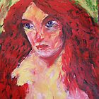 nude girl with red hair, 2010 by Thelma Van Rensburg