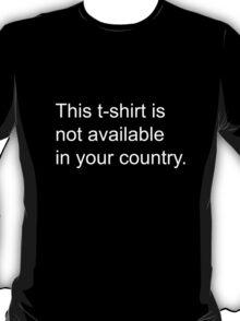Geoblocked T-Shirt