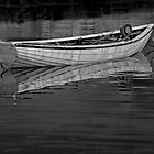 Boat Peggys Cove 39 BW by Randall Nyhof