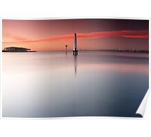 Dawn at Port Melbourne #1 Poster