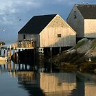 Peggy's Cove Fisherman's Wharf 057 by Randall Nyhof