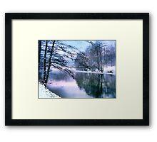 Pastel Pond Framed Print