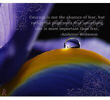 Purple~ Macro Waterdrop Wall Art Photographic Print