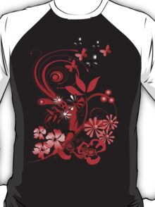 Floral tee with butterflies T-Shirt