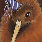 Kiwi in a Party Hat by Lisa Marie Robinson