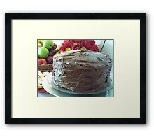 Three-Layer Chocolate Cake Framed Print