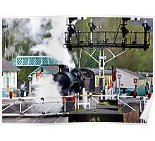 Country Rail Station Poster