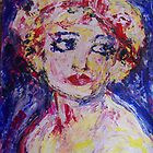 Girl with pink bow by Thelma Van Rensburg