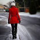Winter walk  (Meghan) by Karen  Betts