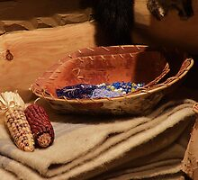 Beads, Baskets, Blanket And Corn by AuntieJ