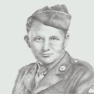 World War II soldier by Pam Humbargar