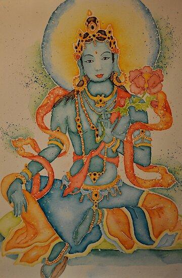 Green Tara: Goddess of Compassion by Sophie Jane Mortimer