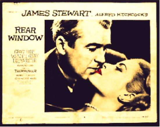 Rear Window - James Stewart and Grace Kelly by Regan Hansen