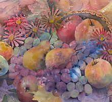 Cornucopia Of Fruit by arline wagner