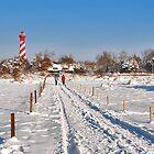 A winter walk near the lighthouse by Adri  Padmos