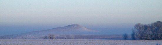 Spirit Mound in Fog by Dawne Olson