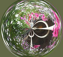 Spherical flower basket by Robert Gipson