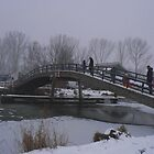 snowing day the bridge by LisaBeth