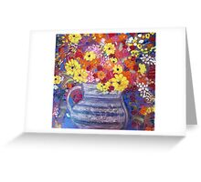 A Jug of Flowers Greeting Card