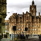 The Balmoral Hotel on North Bridge, Edinburgh by Christine Smith